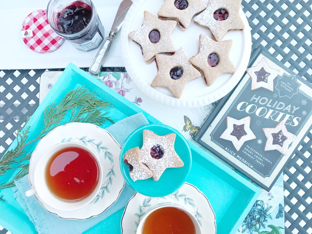 Linzer Cookies with Black Cherry Spread from Bonne Maman