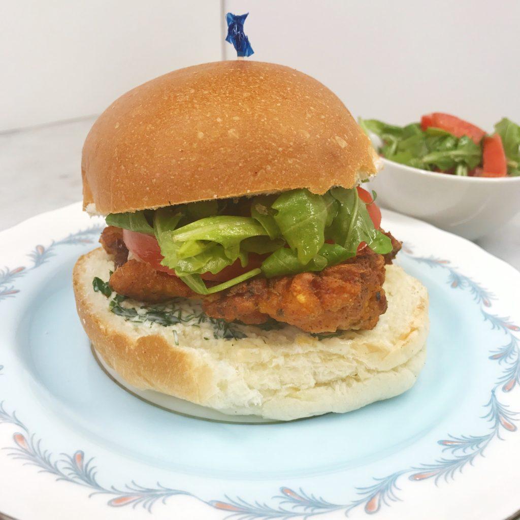 Cajun-Spiced Chicken Burger by HelloFresh