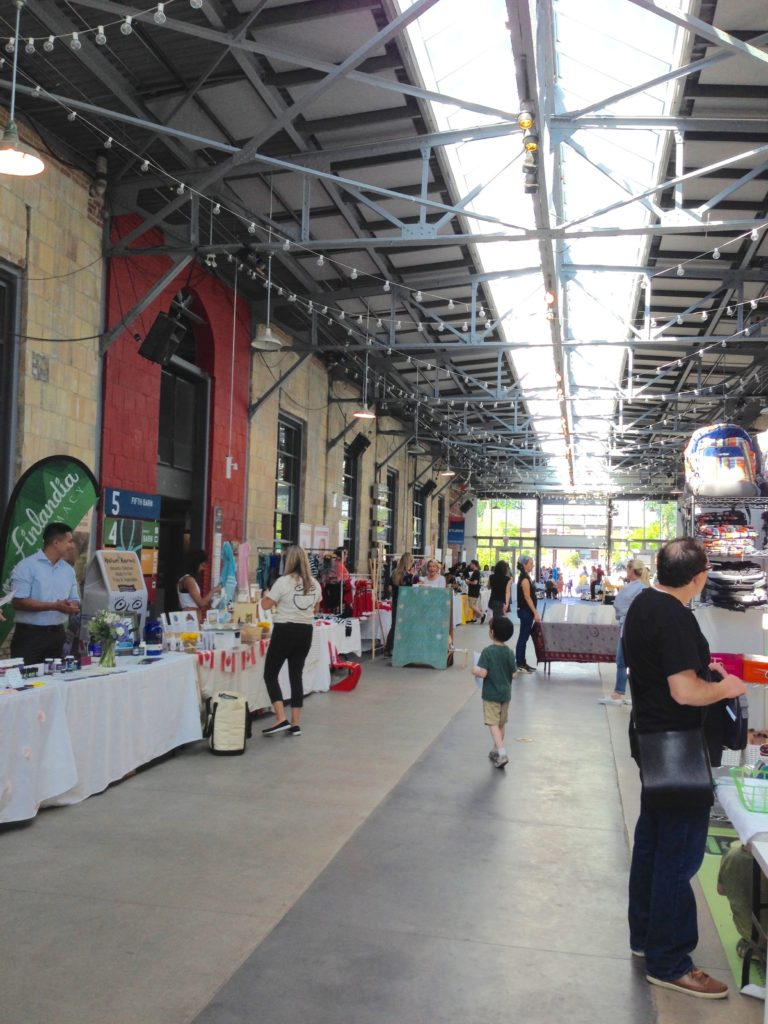 The Farmer's Market at Wychwood Barns in Toronto's St Clair West neighborhood