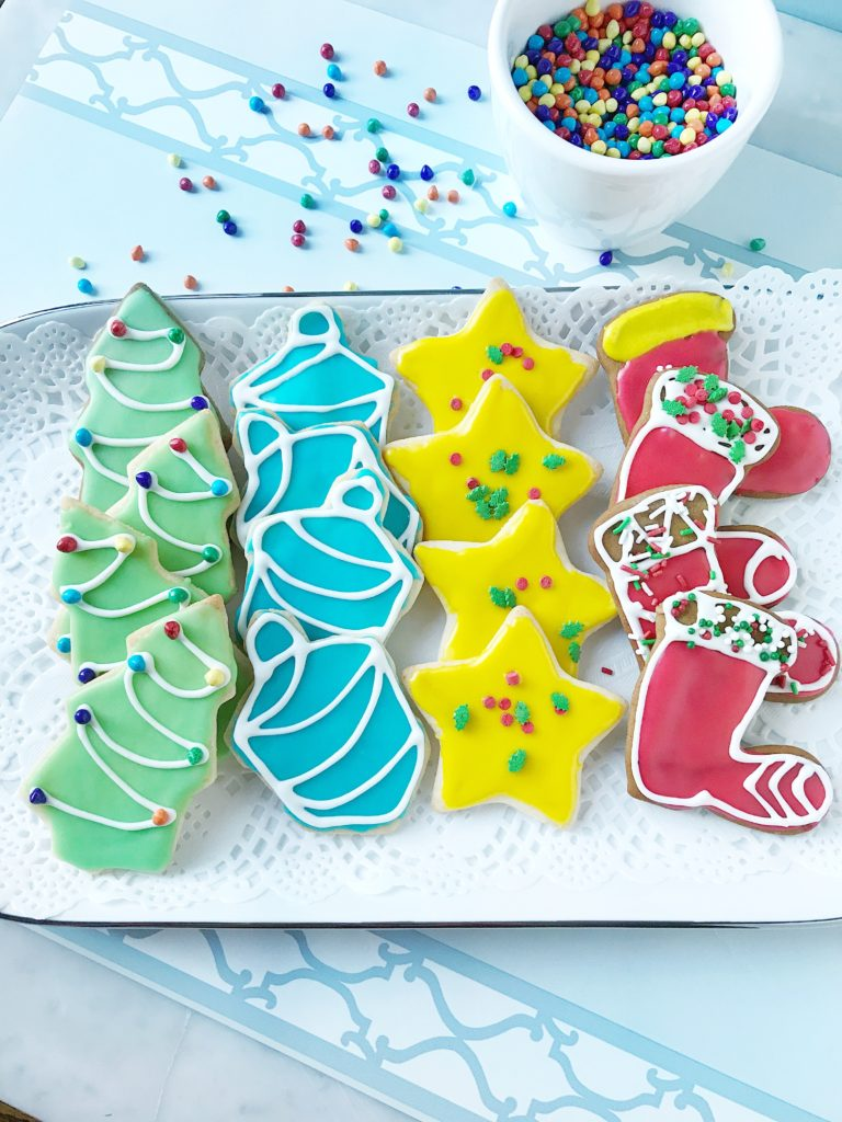 Shortbread Sugar Cookies With Icing
